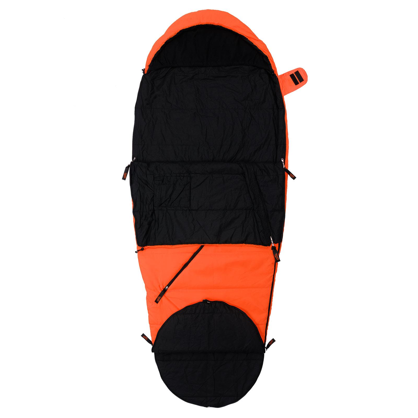 schlafsack camping qeedo buddy orange mumien schlafsack. Black Bedroom Furniture Sets. Home Design Ideas