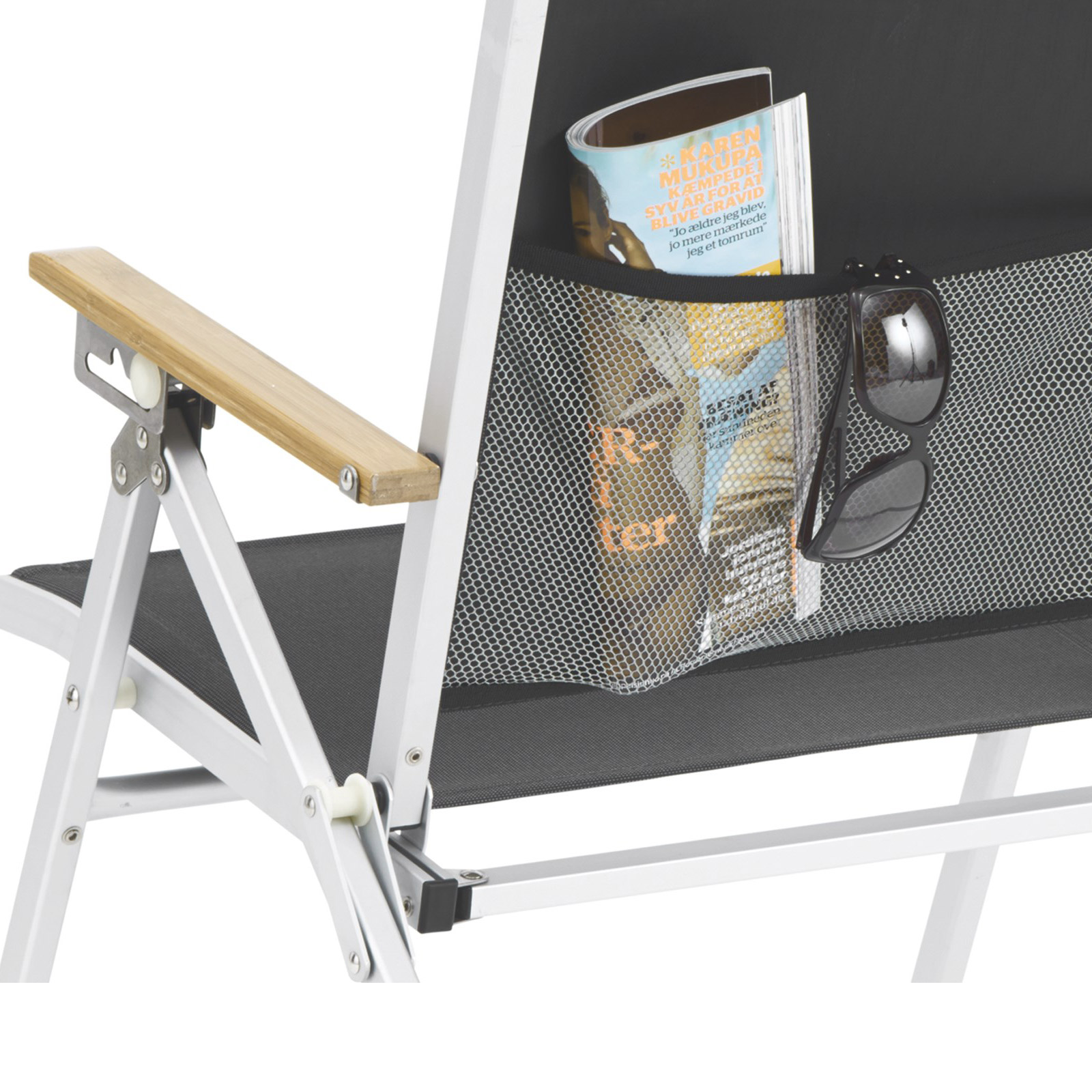 campingstuhl outwell plumas high back aluminium klappstuhl mit bambusarmlehnen ebay. Black Bedroom Furniture Sets. Home Design Ideas