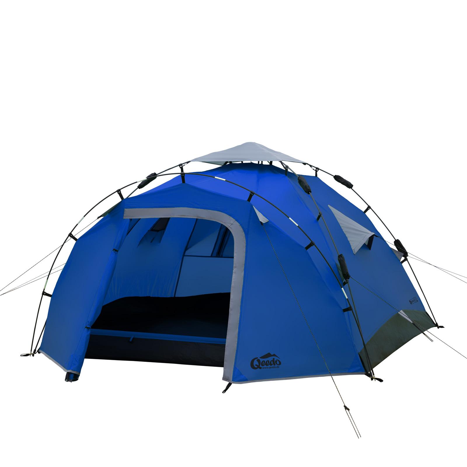 sekundenzelt qeedo quick pine 3 personen zelt campingzelt pop up zelt wurfzelt ebay. Black Bedroom Furniture Sets. Home Design Ideas