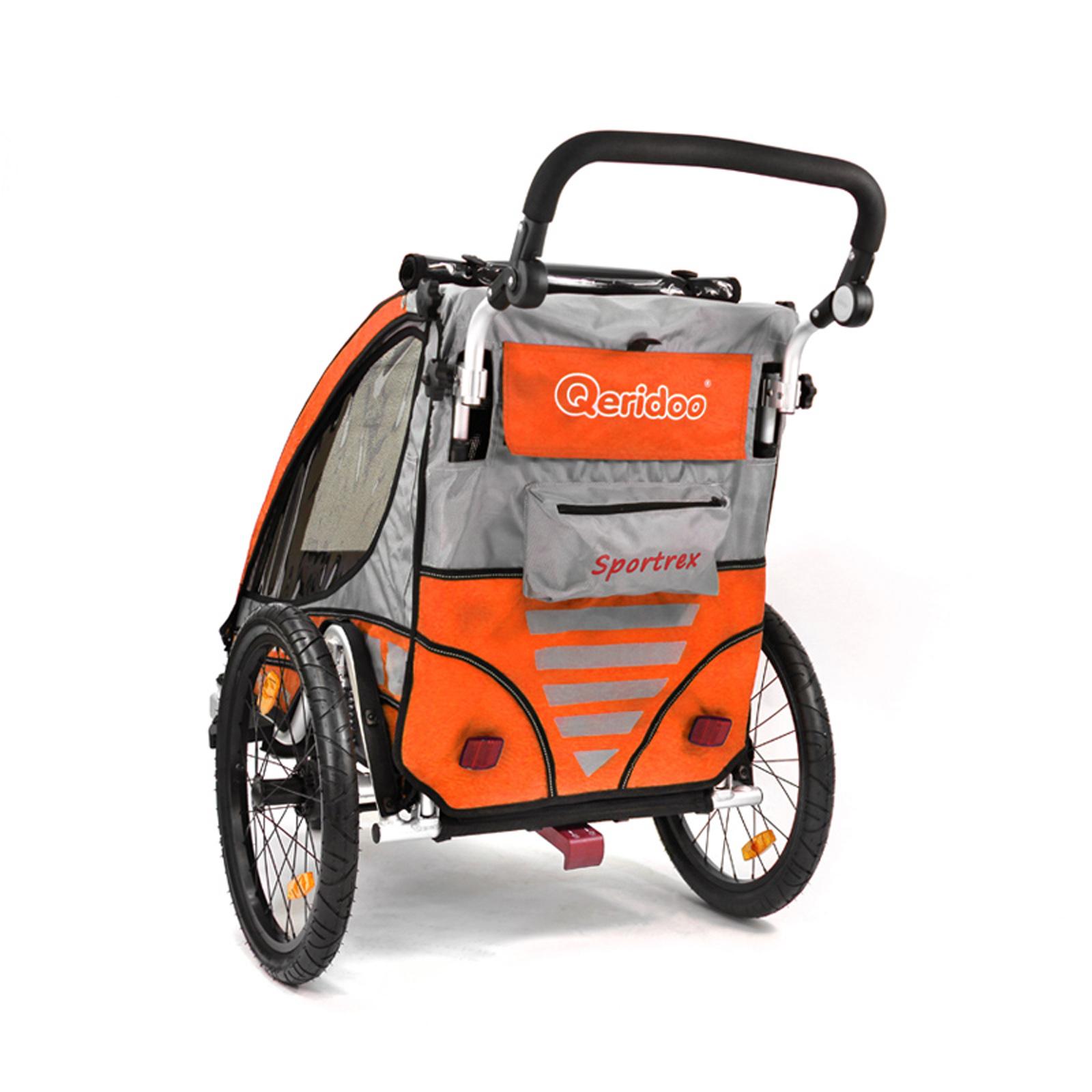 fahrradanh nger qeridoo sportrex 1 einsitzer kinderfahrradanh nger orange 2015 ebay. Black Bedroom Furniture Sets. Home Design Ideas