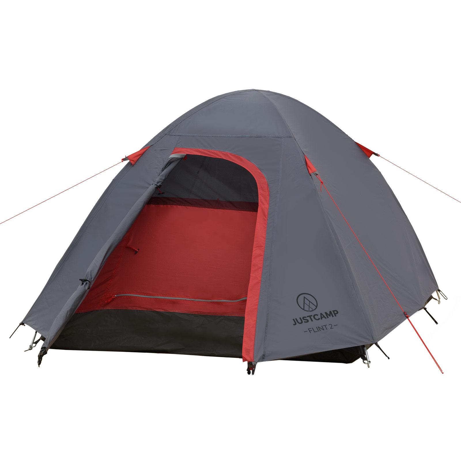 Zelt 2 Personen Leicht Kleines Packmaß : Campingzelt justcamp flint mann kuppelzelt iglu zelt