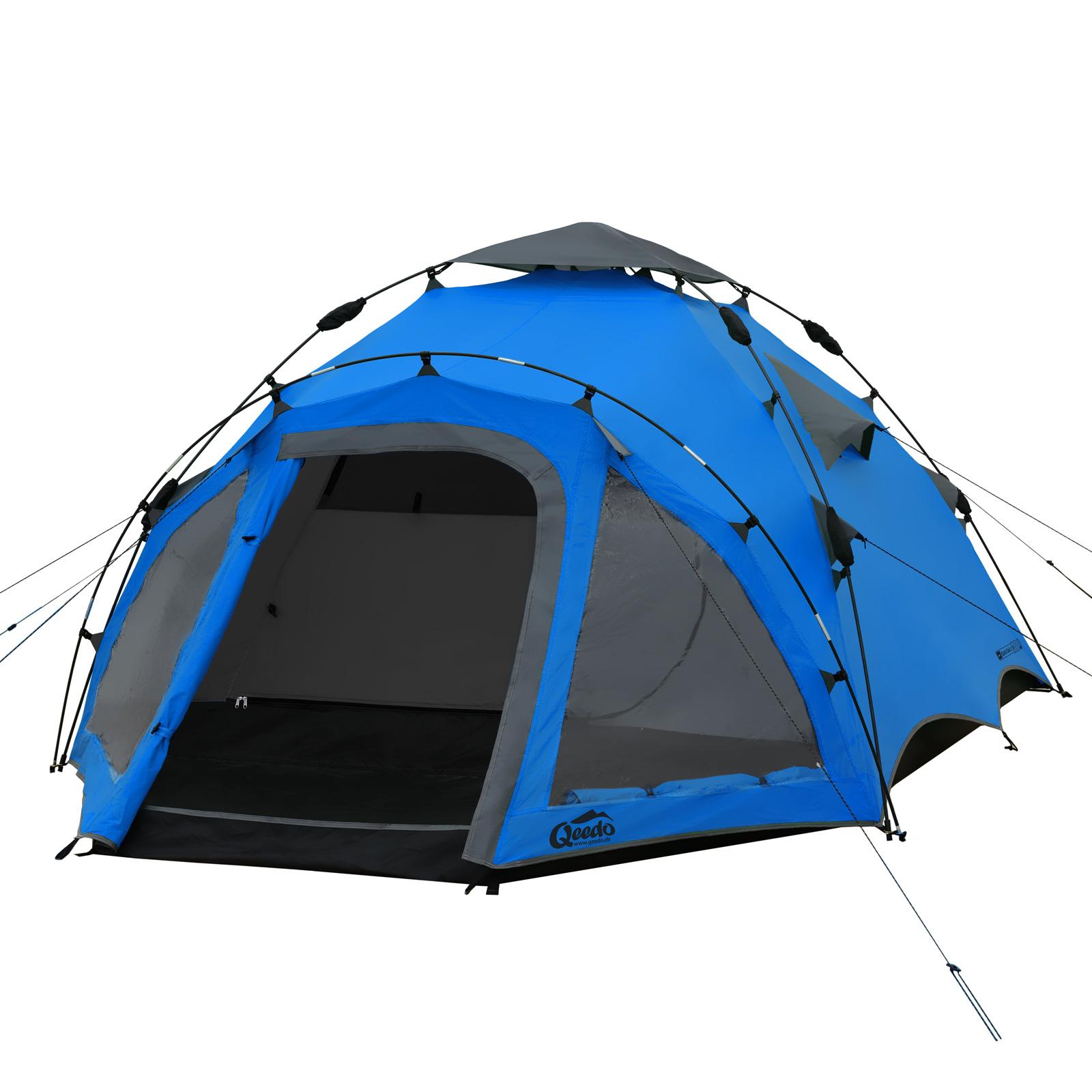 campingzelt qeedo quick oak 3 sekundenzelt 3 personen zelt. Black Bedroom Furniture Sets. Home Design Ideas