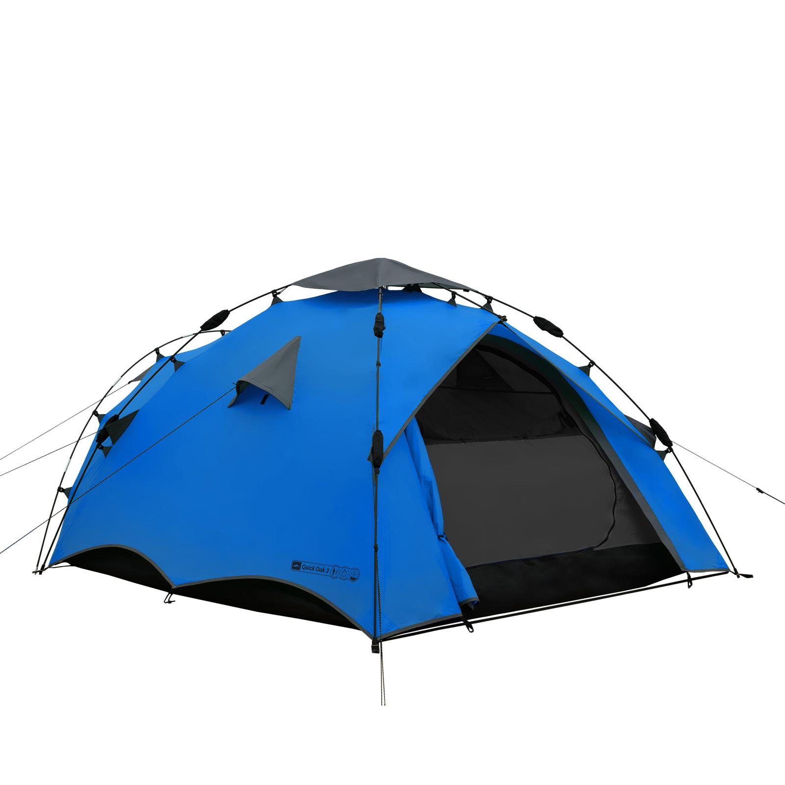 campingzelt qeedo quick oak 3 sekundenzelt 3 personen zelt wurfzelt pop up zelt. Black Bedroom Furniture Sets. Home Design Ideas