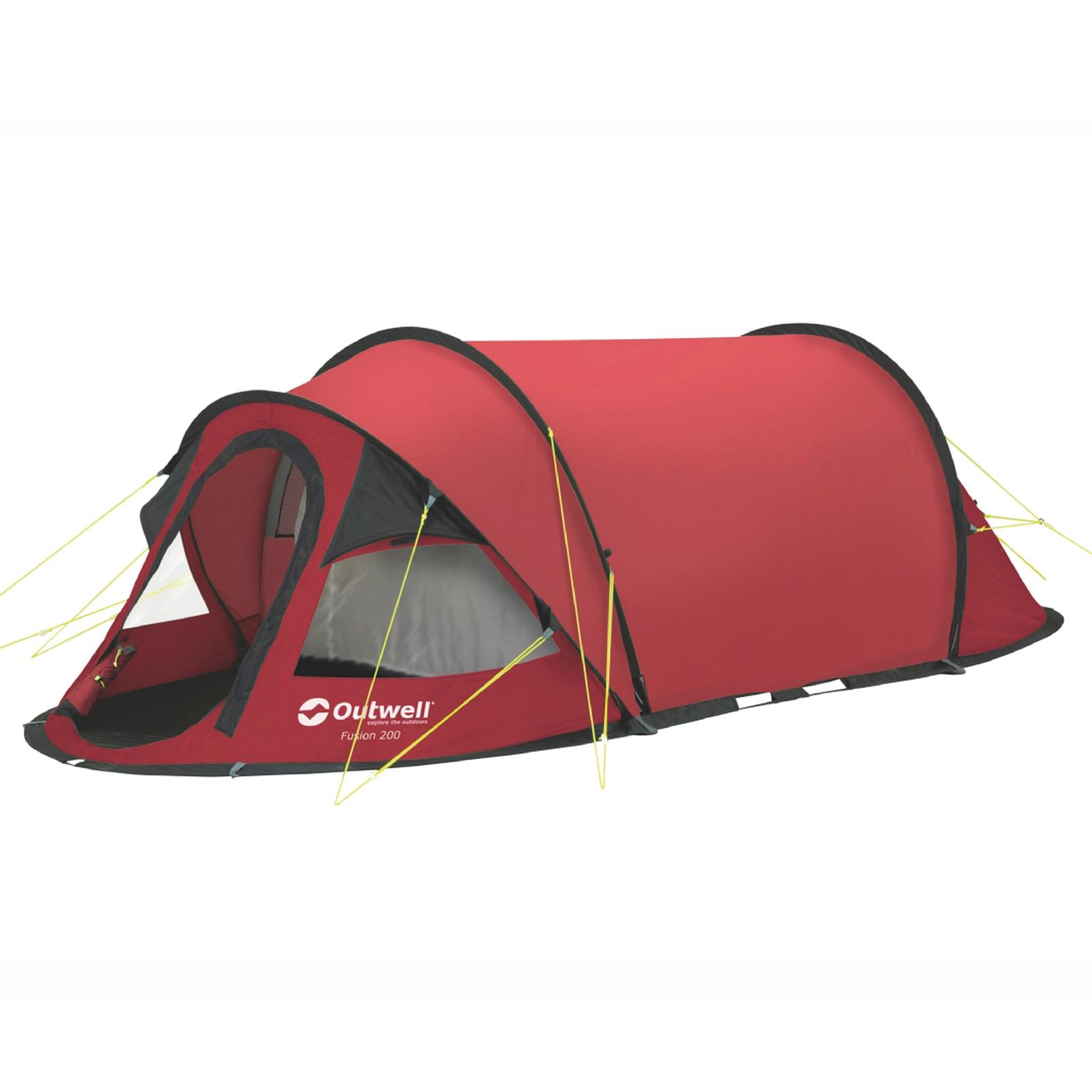 wurfzelt 2 personen outwell fusion 200 rot pop up zelt wurf zelt 2 mann camping ebay. Black Bedroom Furniture Sets. Home Design Ideas