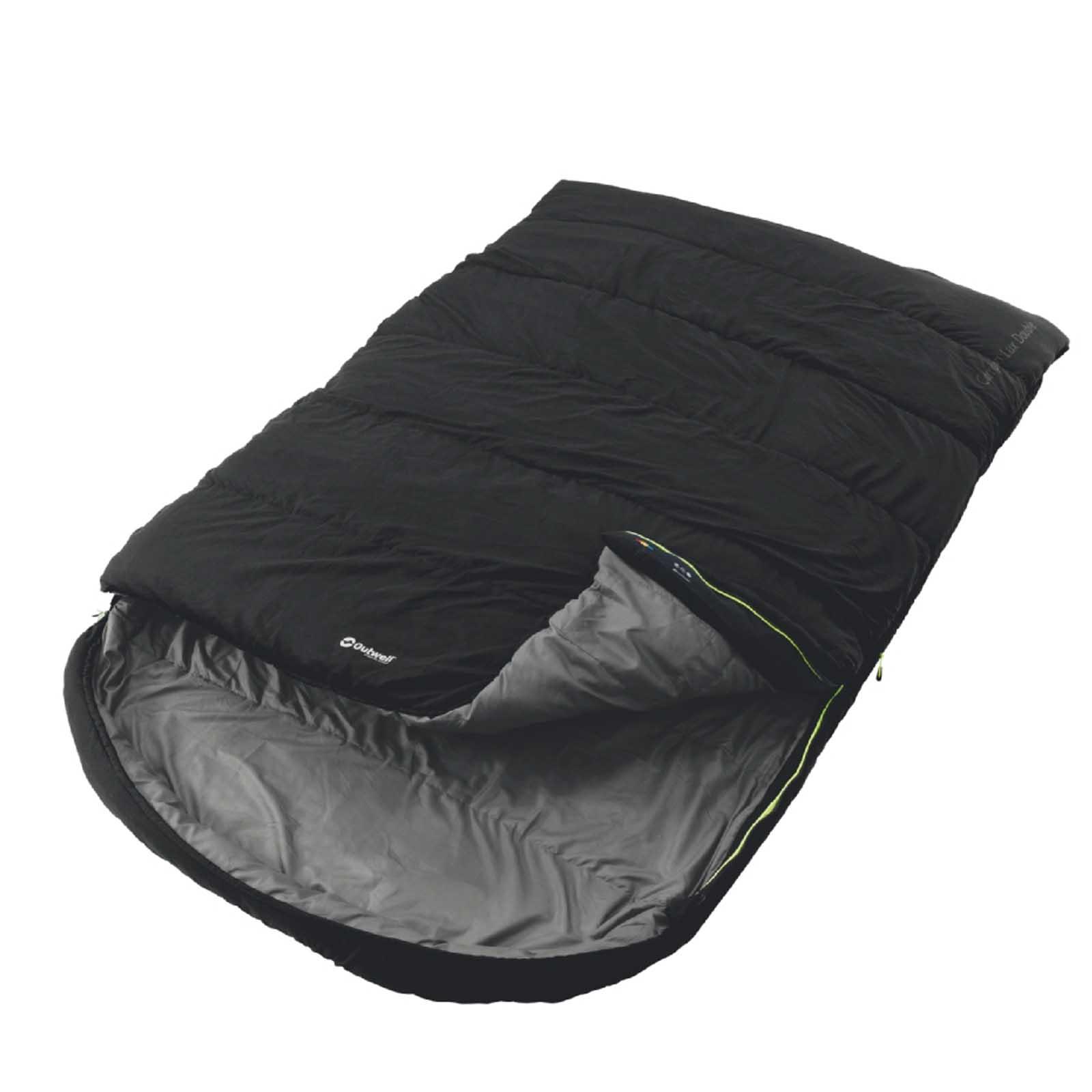 doppel deckenschlafsack outwell campion lux schwarz camping outdoor schlafsack ebay. Black Bedroom Furniture Sets. Home Design Ideas