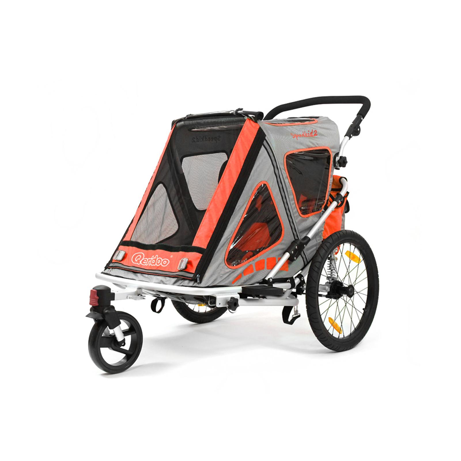 fahrradanh nger qeridoo speedkid 2 kinderanh nger kinder fahrrad anh nger orange ebay. Black Bedroom Furniture Sets. Home Design Ideas