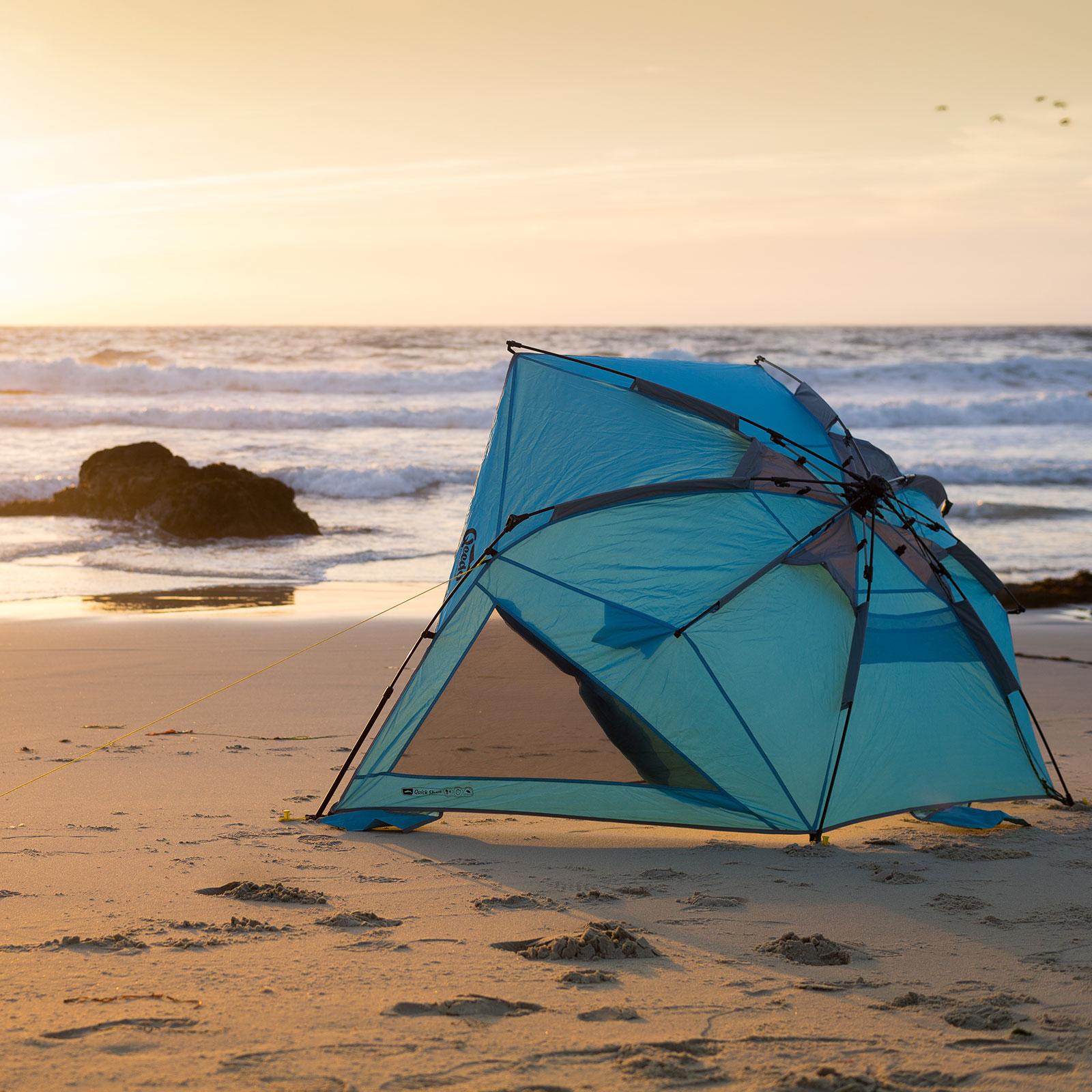pop up strandmuschel qeedo quick shell strandzelt sonnenschirm wurf muschel zelt ebay. Black Bedroom Furniture Sets. Home Design Ideas