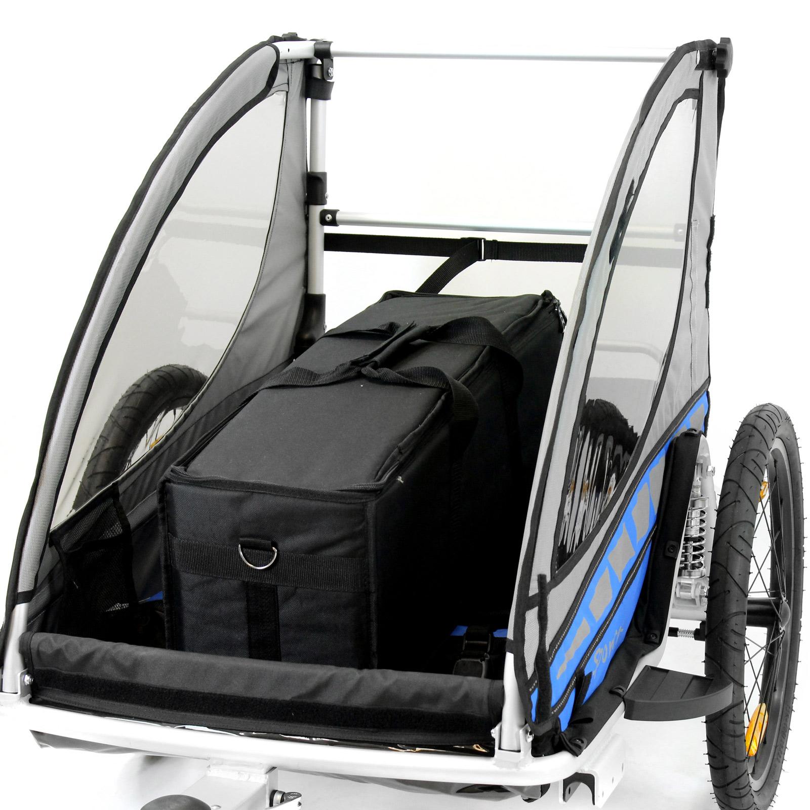 kinder fahrradanh nger qeridoo sportrex 2 kinderfahrradanh nger fahrrad anh nger ebay. Black Bedroom Furniture Sets. Home Design Ideas