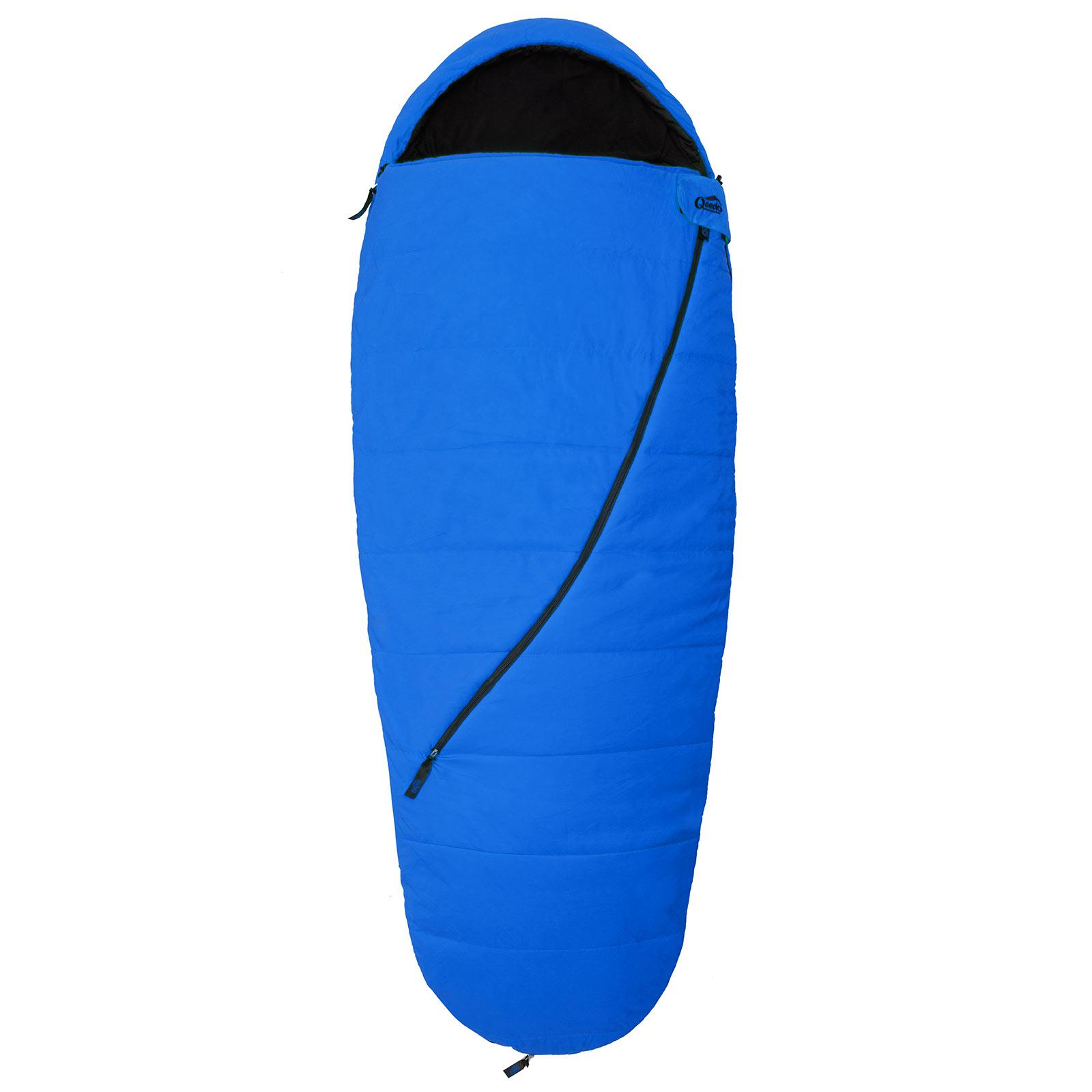 schlafsack camping qeedo buddy blau mumien schlafsack. Black Bedroom Furniture Sets. Home Design Ideas
