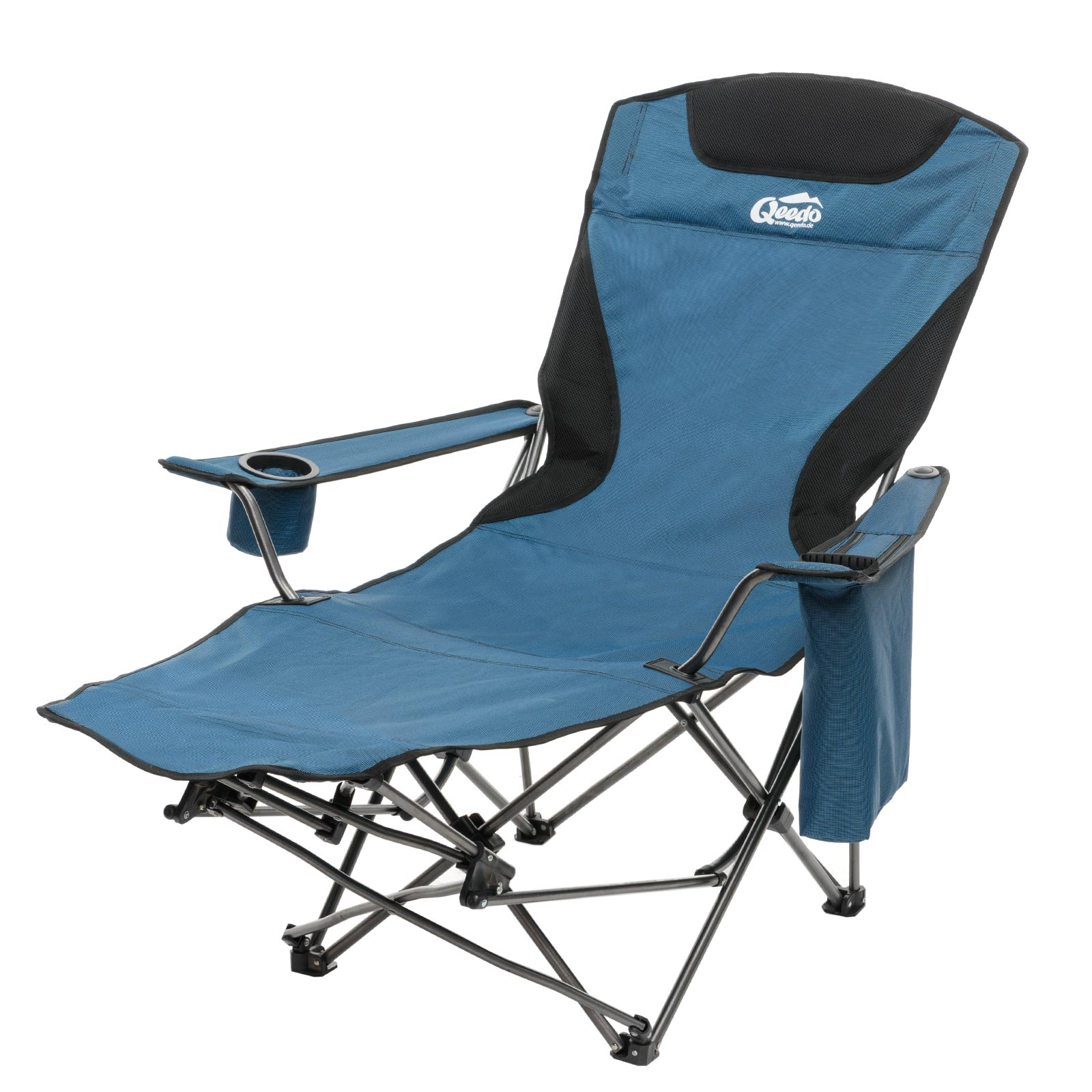 faltstuhl qeedo johnny relax campingstuhl mit fu st tze. Black Bedroom Furniture Sets. Home Design Ideas