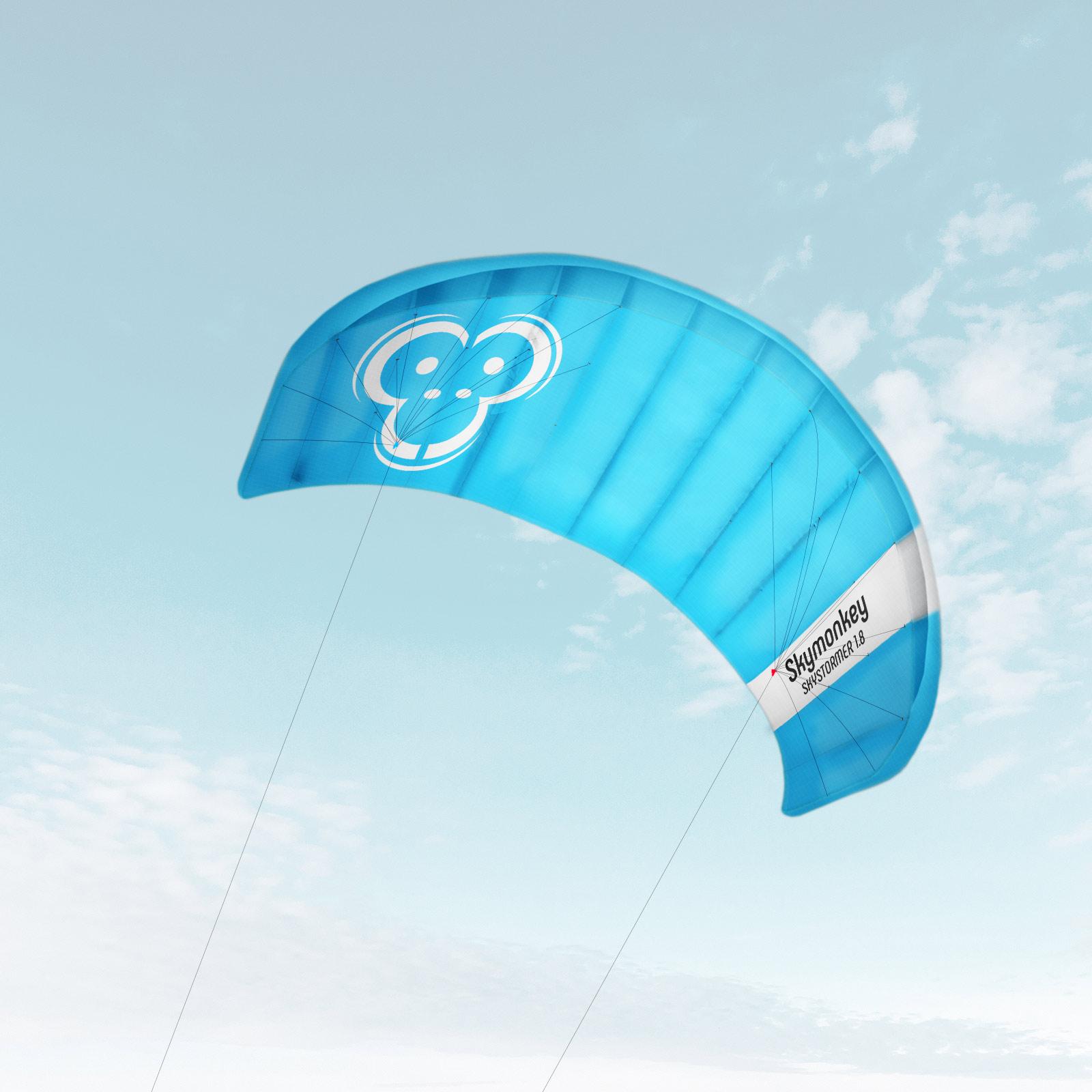 Indexbild 15 - Lenkdrachen SKYMONKEY Skystormer Lenkmatte Flugdrachen Kite Drachen Lenk Matte