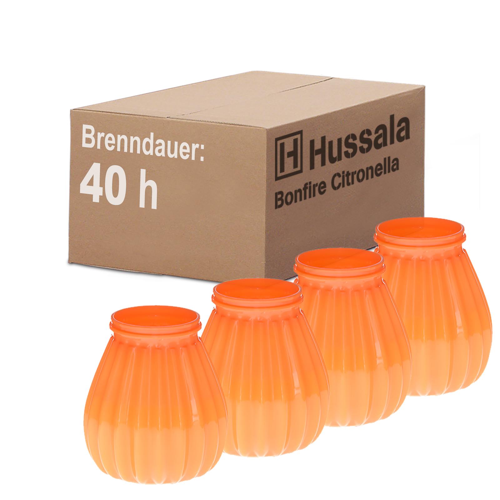 HUSSALA-Outdoorkerzen-Bonfire-Citronella-Brennzeit-40h-Duft-Garten-Kerzen-Glaeser
