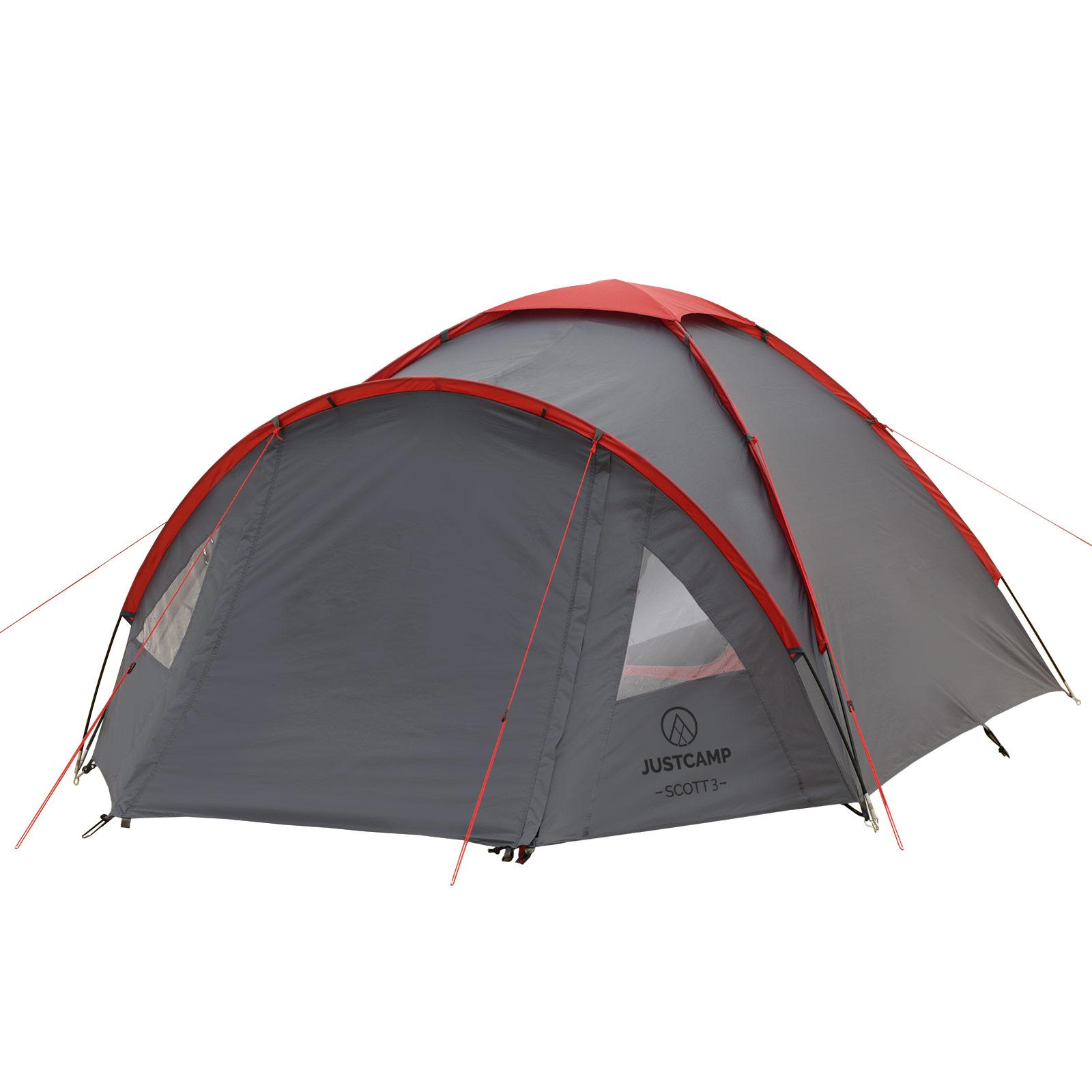 campingzelt justcamp scott 3 mann zelt igluzelt kuppelzelt. Black Bedroom Furniture Sets. Home Design Ideas