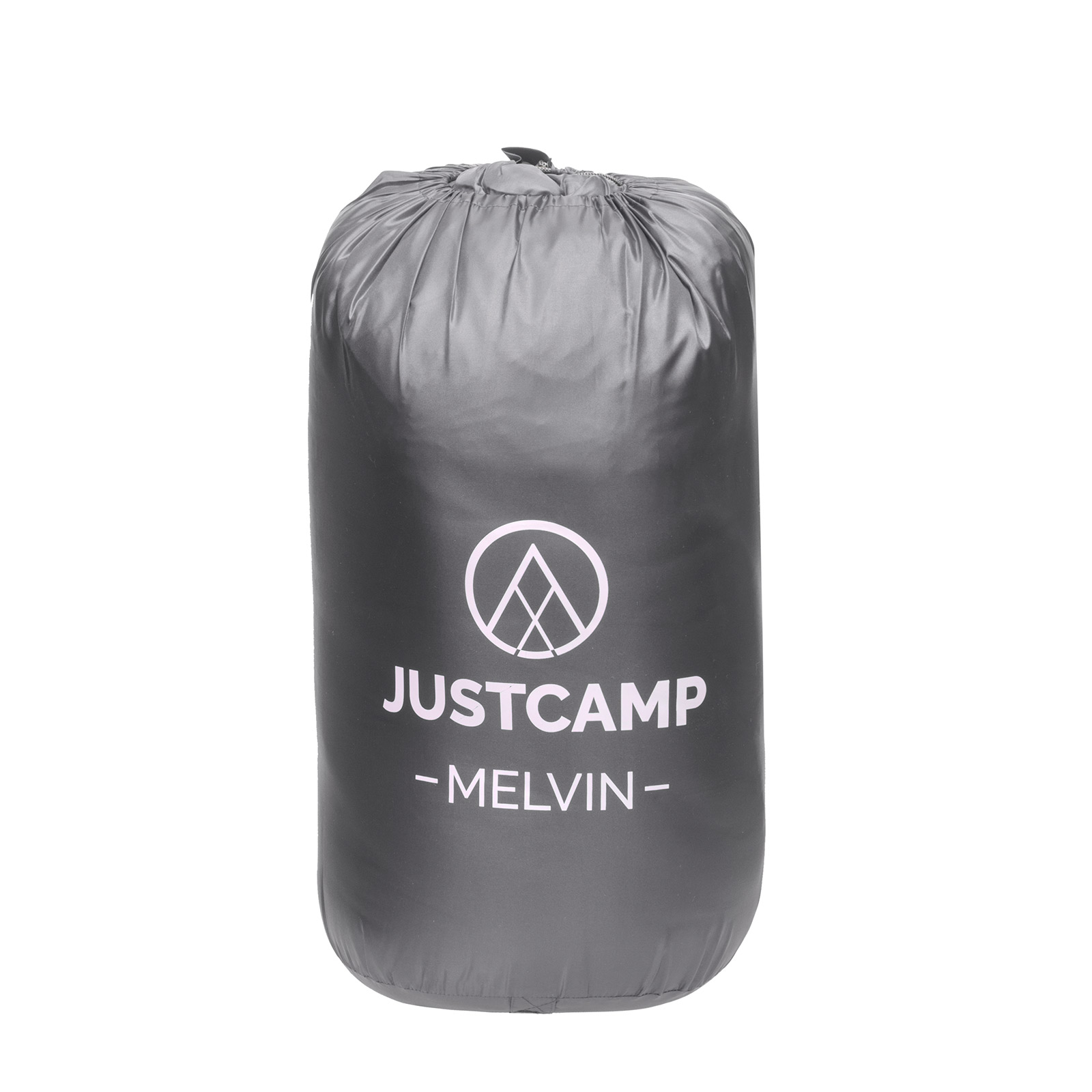 Deckenschlafsack JUSTCAMP Melvin Schlafsack Erwachsene Camping Schlafsack grau