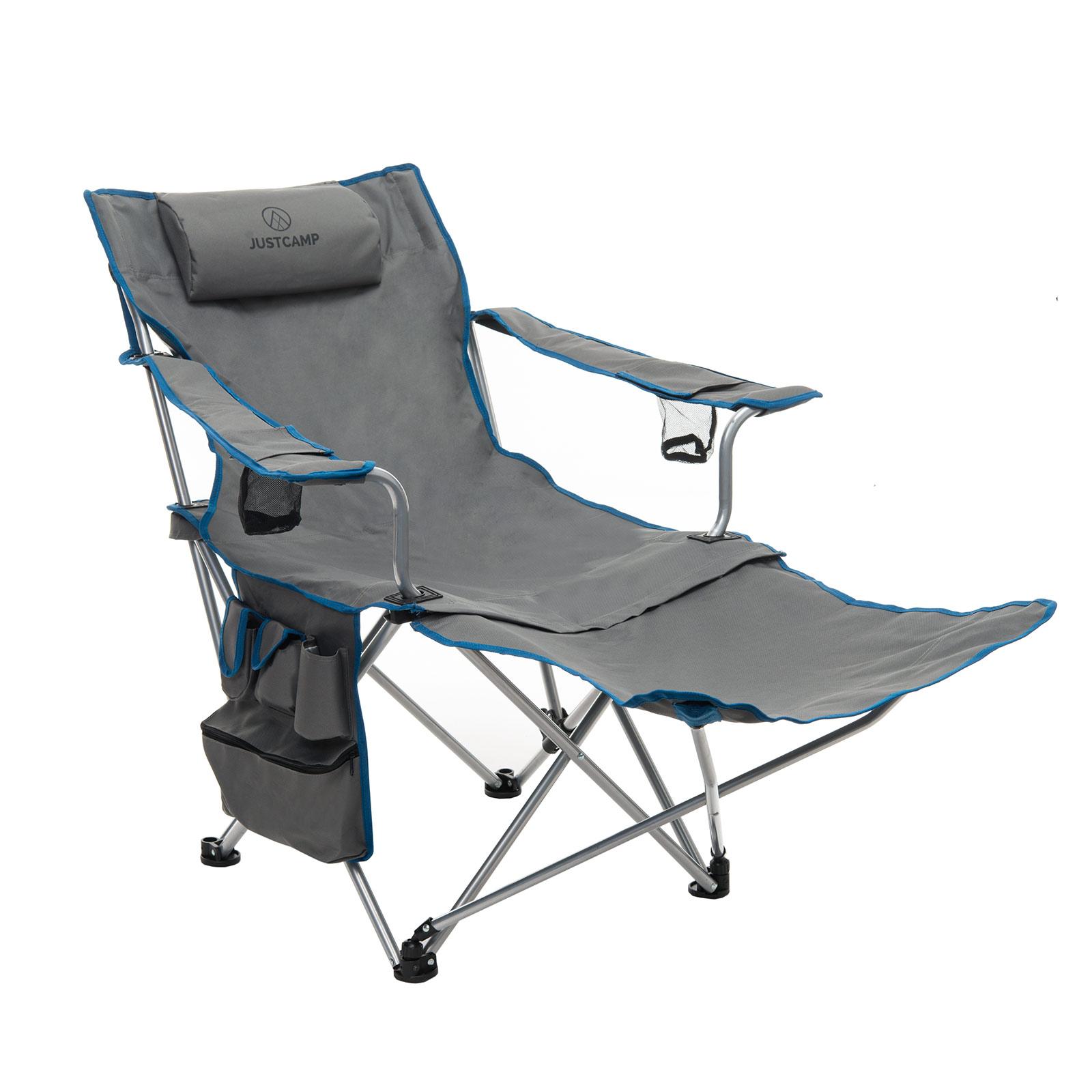 Faltstuhl camping  Campingstuhl JUSTCAMP Denver Faltstuhl mit Fußablage Liegestuhl ...