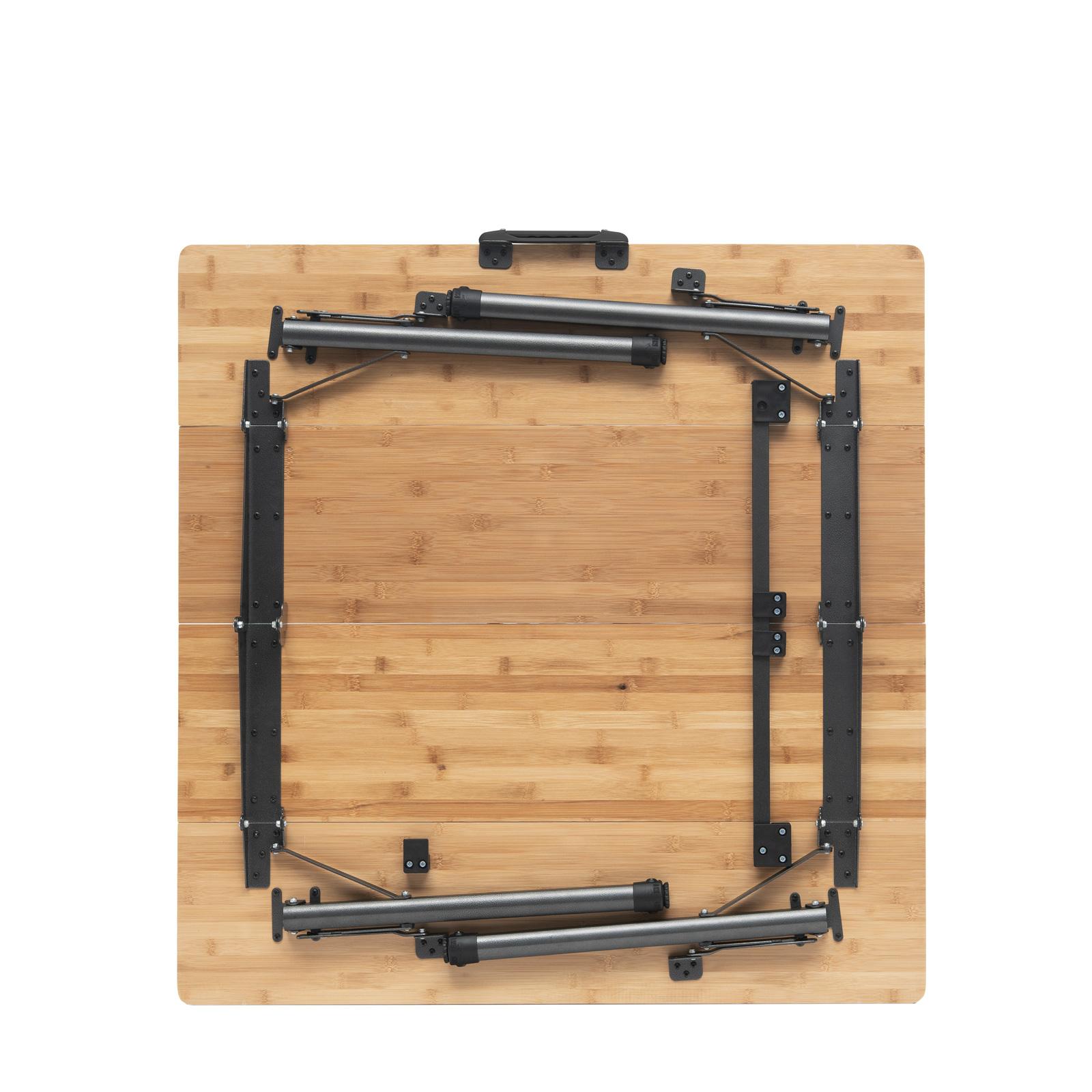 QEEDO Quick Kimmy Campingtisch - Bambus Bambus Bambus - Höhenverstellbar - Massiver Tisch 456338