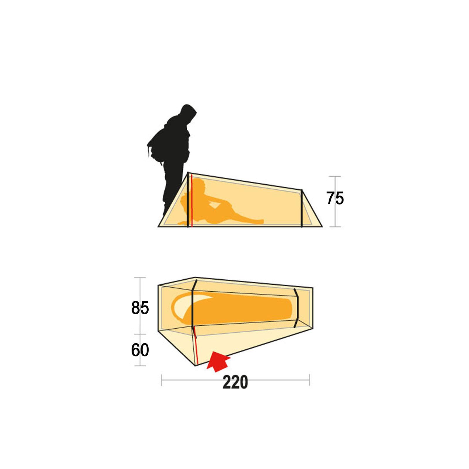 1 mann zelt ferrino lightent 1 personen trekkingzelt leichtzelt fahrrad camping ebay. Black Bedroom Furniture Sets. Home Design Ideas