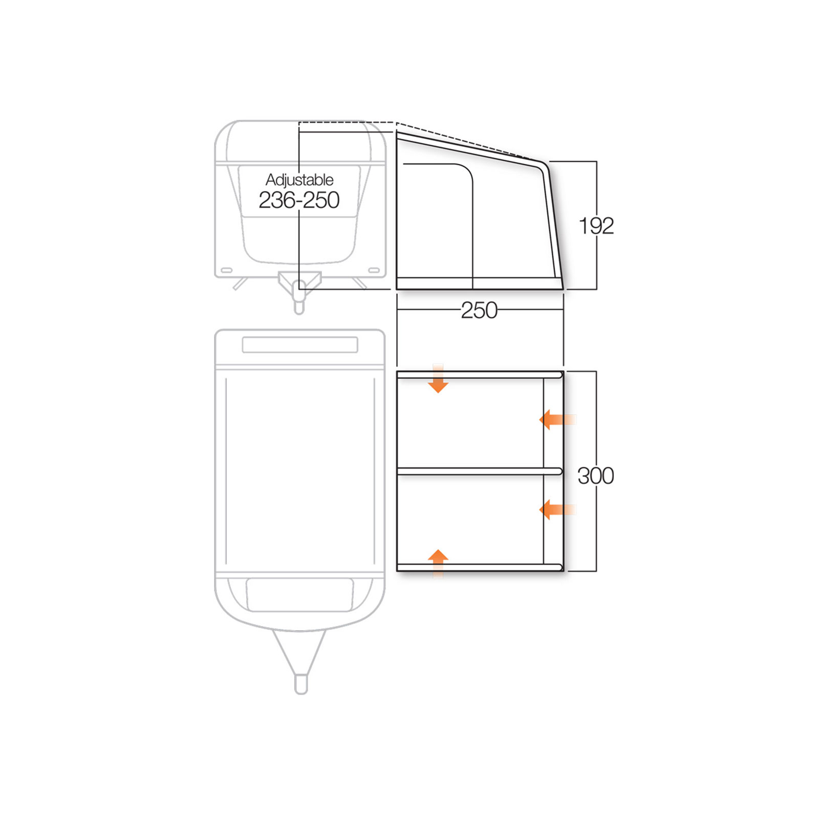 wohnwagen vorzelt vango braemar 2 300 aufblasbares. Black Bedroom Furniture Sets. Home Design Ideas
