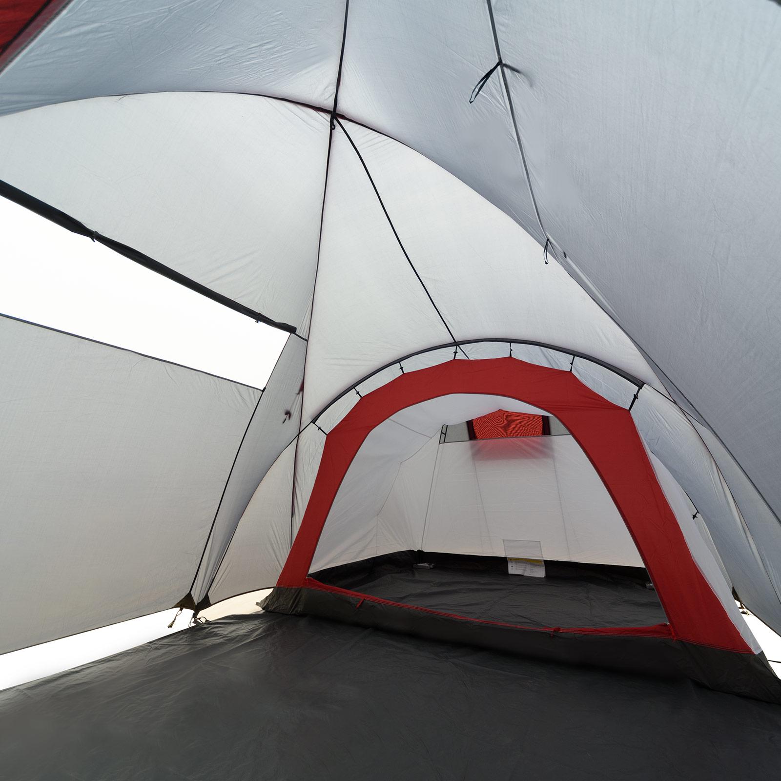 Zelt Newport 3 : Zelt mit stehhöhe justcamp parker familienzelt