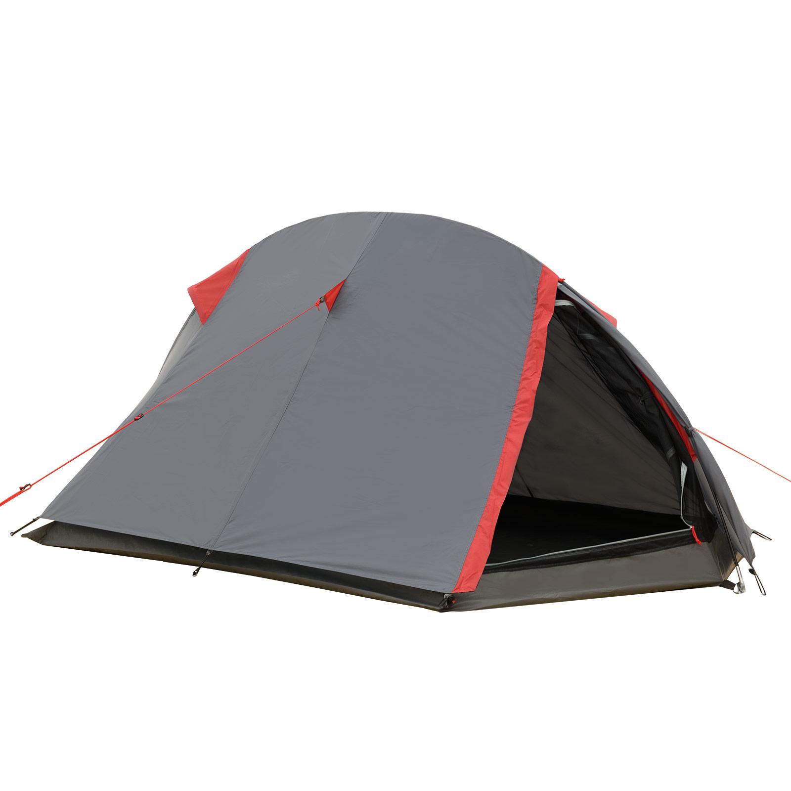 Trekkingzelt JUSTCAMP Fargo 1-2 Personen Zelt Einbogenzelt leichtes Tunnelzelt
