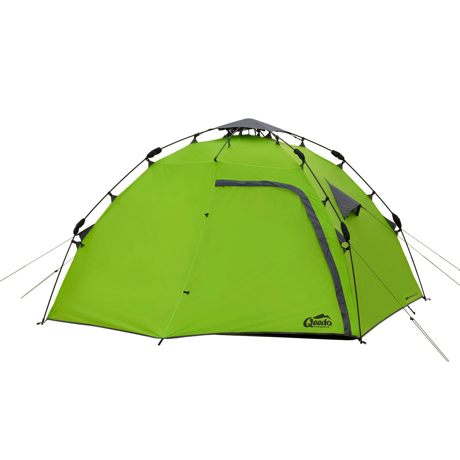 campingzelt qeedo quick maple 4 sekundenzelt 4 personen zelt wurfzelt pop gr n ebay. Black Bedroom Furniture Sets. Home Design Ideas