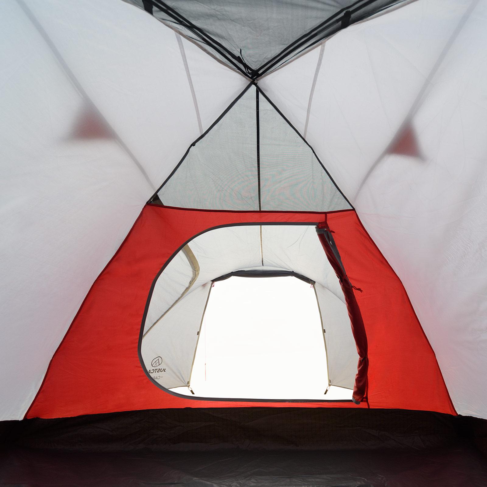 4 mann zelt justcamp carson 4 campingzelt 4 personen kuppelzelt mit vorraum ebay. Black Bedroom Furniture Sets. Home Design Ideas