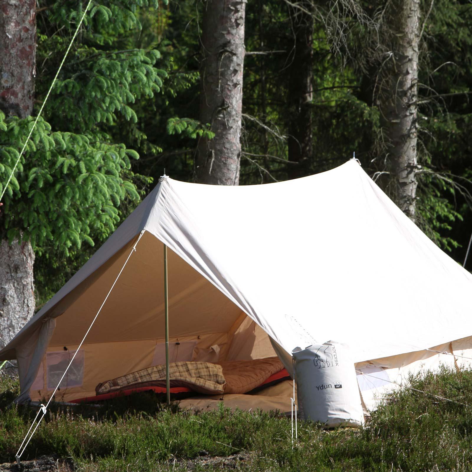 trapperzelt nordisk ydun 5 5 basic cotton firstzelt campingzelt baumwollzelt ebay. Black Bedroom Furniture Sets. Home Design Ideas