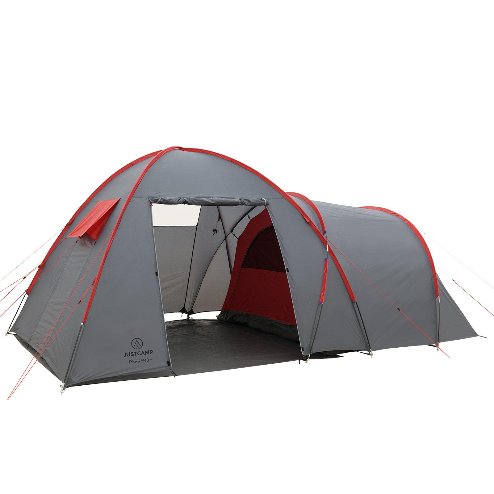 Zelt 5 Personen Stehhöhe : Zelt mit stehhöhe justcamp parker familienzelt