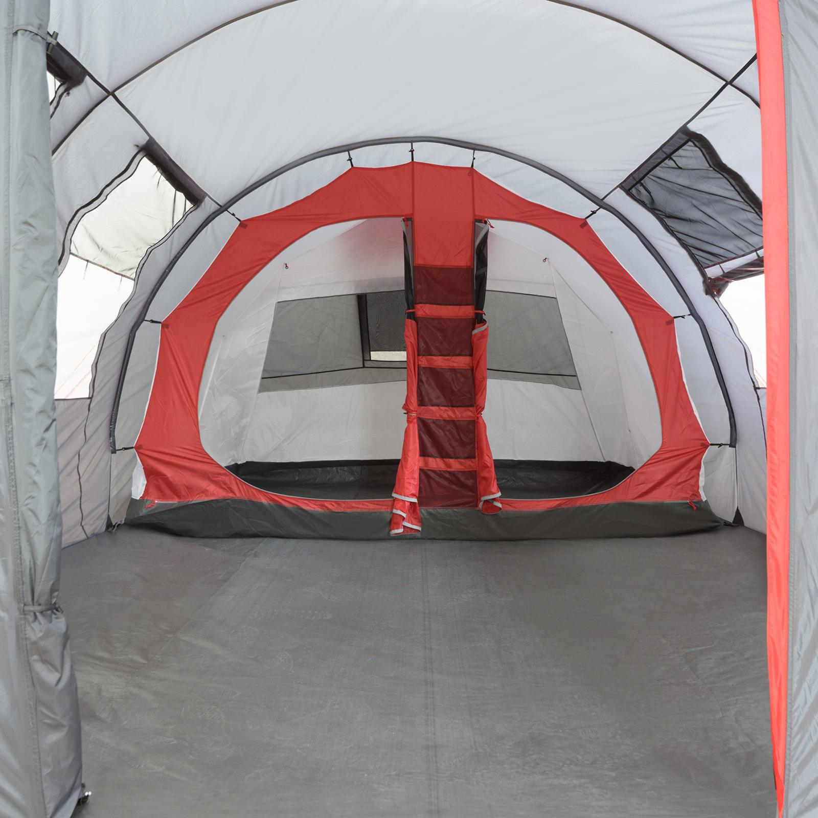 Zelt 5 Personen Stehhöhe : Familienzelt justcamp atlanta tunnelzelt für personen