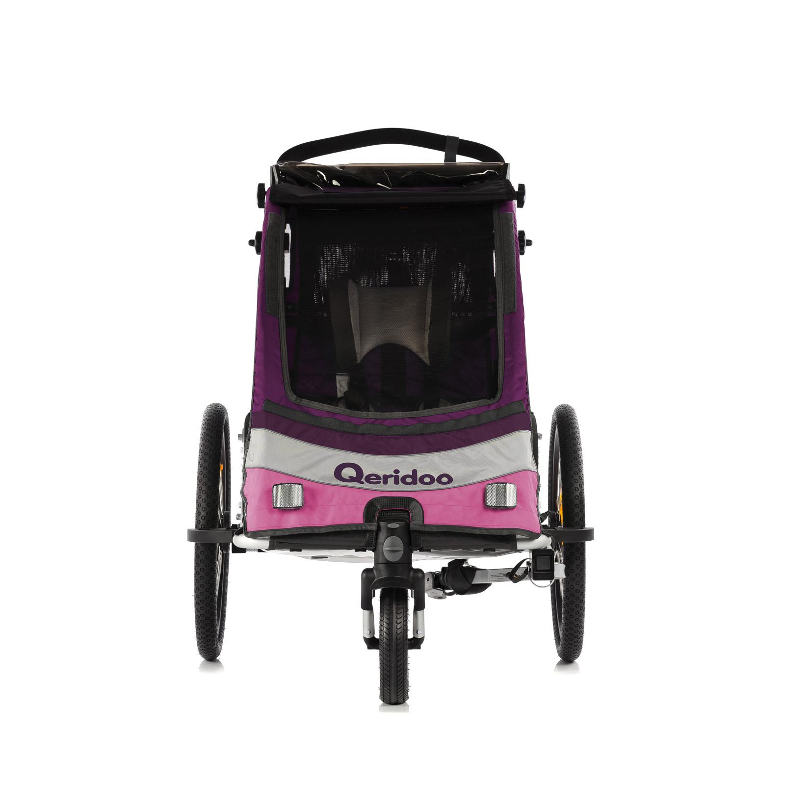 Fahrradanhänger Kinder QERIDOO Sportrex1 Kinderfahrradanhänger