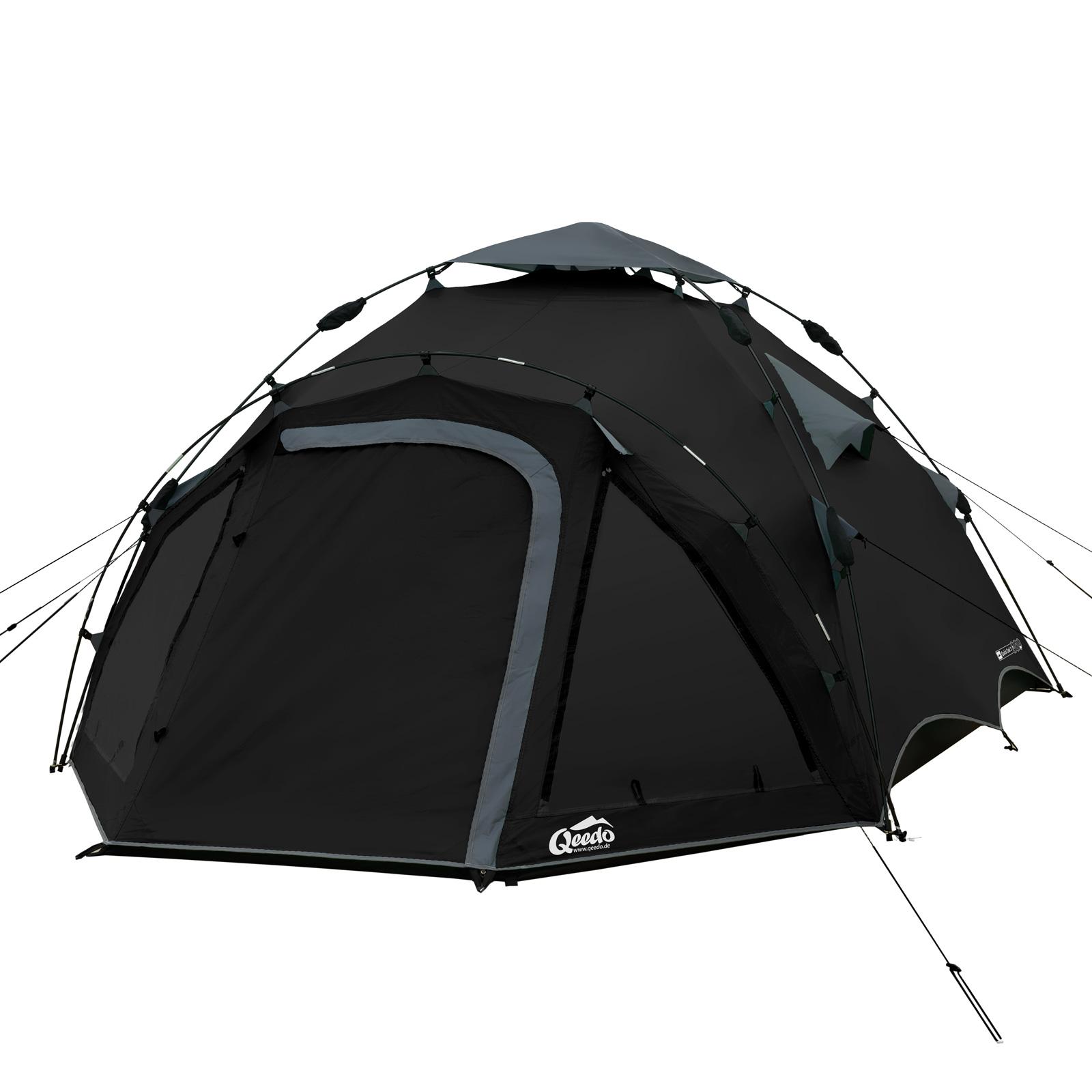 3 personen zelt qeedo quick oak 3 sekundenzelt campingzelt wurfzelt pop up zelt ebay. Black Bedroom Furniture Sets. Home Design Ideas