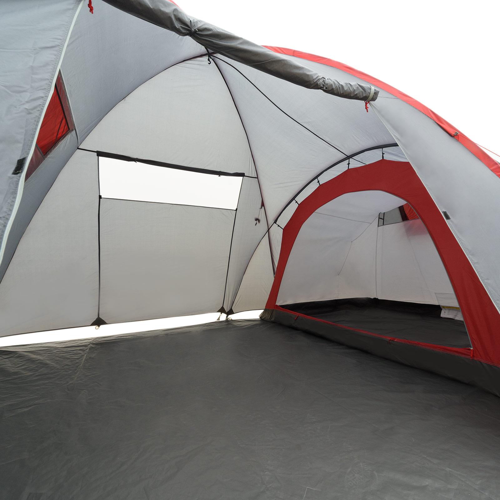 Zelt 4 Personen Stehhöhe : Zelt mit stehhöhe justcamp parker familienzelt